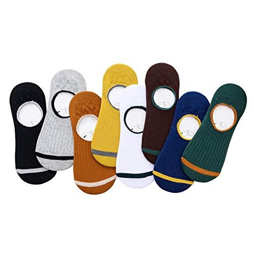DEBAIJIA Casual Sportsocken Unsichtbare Söckchen Athletische Baumwollsocken mit Rutschhemmendem Gummi für Jungen Mädchen Männer Damen, Weich, Atmungsaktiv für Familien und Liebhaber - 8 Paar (Athletische Socken Jungen)