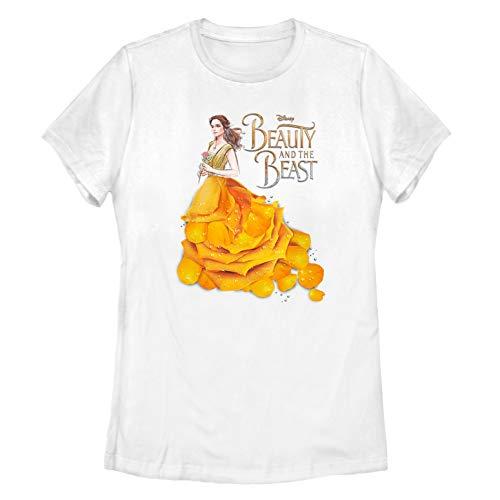 b03095359 Fifth Sun Beauty and The Beast Women's Rose Petal Dress White T-Shirt