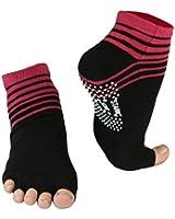 Yoga und Pilates Zehensocken mit Antirutsch-Sohle und offenen Zehen von Vincent Creation