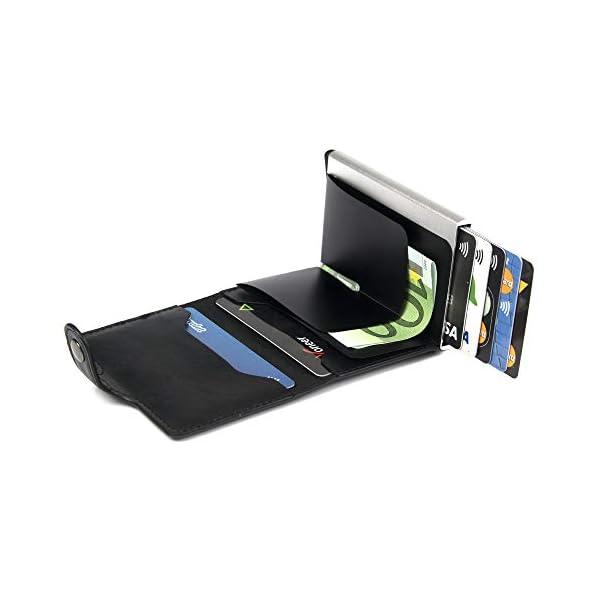 Porta Carte di Credito da Uomo | Portafoglio per Carte di Credito e Banconote con Protezione RFID | Design da Business… 3 spesavip