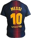 FCB Maglia Messi Barcellona Ufficiale T-Shirt Barcelona Uomo Adulto Bambino 10 Lionel (cm:Spalle 41,Torace 50,lungh.68-Anni 14)