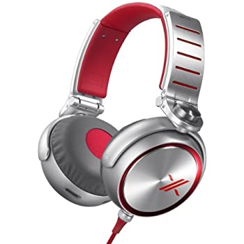 Sony MDRX10/RED Simon Cowell X Headphones with 50mm Diaphragms