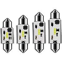 SUMOZO Canbus sin errores 31 36 39 41mm Festoon C5W Bombillas LED 6000K Luz blanca CSP 1818 para el interior del automóvil Luces de la puerta de la matrícula del domo Paquete de 4 (39mm)