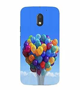 PrintVisa Balloons In The Sky 3D Hard Polycarbonate Designer Back Case Cover for Moto E3 Power