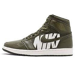 Nike Air Jordan 1 Retro High Og Herren Basketball Trainers 555088 Sneakers Schuhe (UK 13 US 14 EU 48.5, Olive Canvas Sail 300)