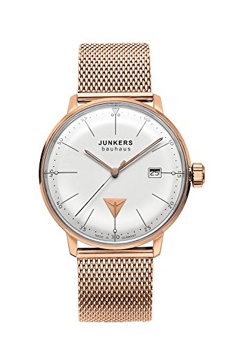 Junkers 6074M-1 Mens Bauhaus Rose Gold Plated Bracelet Watch