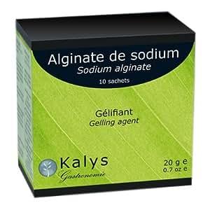 KALYS - Cuisine moléculaire - Gélifiant Alginate de sodium 10 x 2g