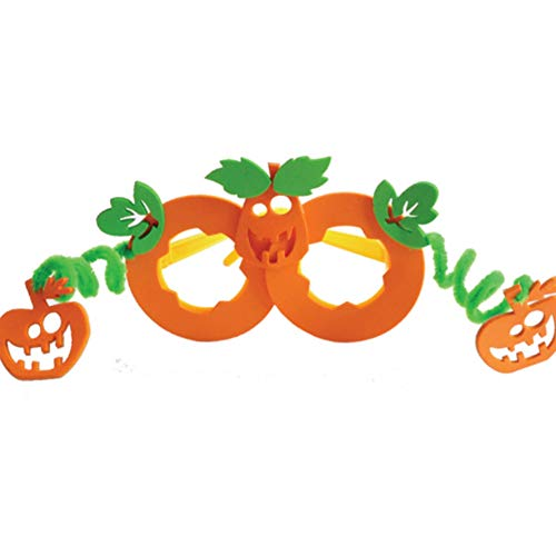 DDG EDMMS Halloween Bastelset 3D Eva Kinder Brille Spielzeug Adhesive DIY-Objektiv-Familien-Feiertag Aktivität Kürbis-Halloween-Dekoration (Für Halloween-aktivitäten Familien)