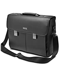 """Kensington 15"""" LAPTOP BRIEFCASE - BK - sacoches d'ordinateurs portables (39,6 cm (15.6""""), Malette, Noir, Simili-cuir, Monotone, 450 mm)"""