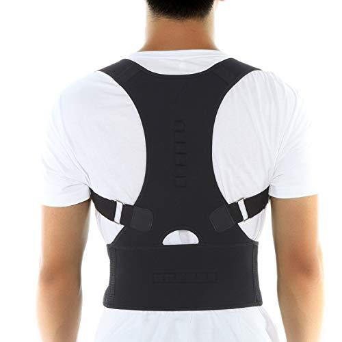 INSTINNCT Magnete Rückenstütze Verstellbare Geradehalter zur Haltungskorrektur Schulter für Körperhaltung gegen haltungsbedingte Rücken und Nackenschmerzen für Freizeit Büro Damen und Herren