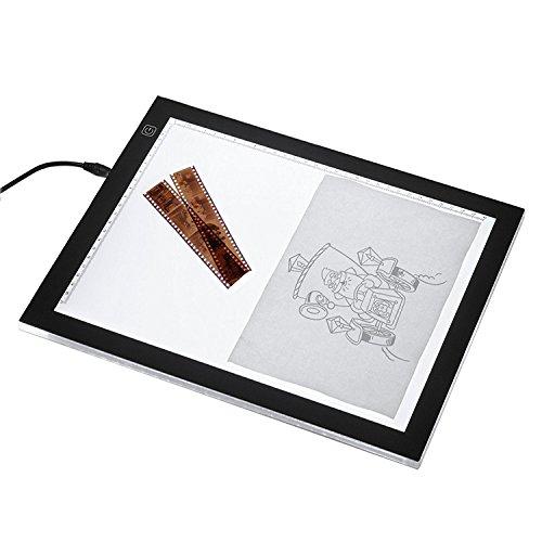 ESYNiC-Table--Dessin-A4-LED-Tablette-Lumineuse-Professionnelle-Ultra-Plat-Avec-3-Types-de-Luminosit-Rglable-Table-pour-Dssinateur-Idal-Pour-Artiste-Dessin-Pochoir-Tatou-Esquisse-et-le-Travail-de-Photo