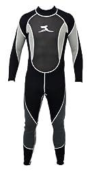 ts-ideen Herren 3 mm Neoprenanzug Longsuit Größe XL 52-54 Surfanzug mit Mesh Skin