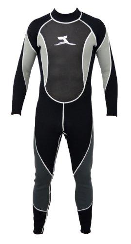 48 Herren-badeanzug (Herren 3 mm Neoprenanzug Longsuit Größe L 48-50 Surfanzug mit Mesh Skin)