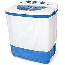 TecTake 400777 Mini machine à laver jusqu'à 4,5 kg - Lave-linge compact