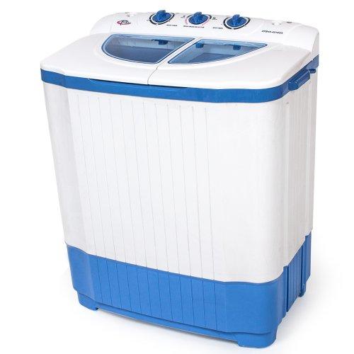 TecTake 400777 4,5 kg Mini Miniwaschmaschine + 3,5 kg Wäscheschleuder Kombination