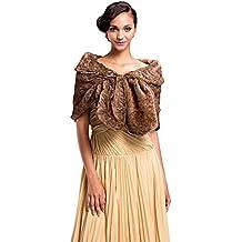 Gracewedding - Chal - para mujer Marrón marrón ...