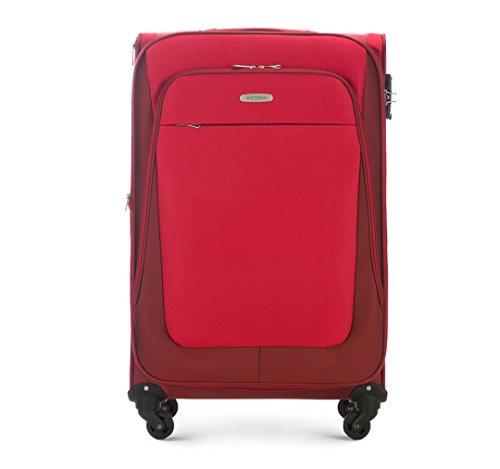 WITTCHEN Reisekoffer Trolley 27'' Koffer, 35x77x46 cm, Rot, 95 Liter, Größe: groß, L, Polyester, TSA Zahlenschloss, 56-3S-483-30