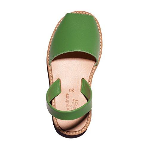 Minorquines - Sandales Avarca Cuir Hierba - Enfant Vert