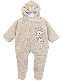 TupTam Unisex Baby Schneeanzug mit Kapuze Fleece-Overall