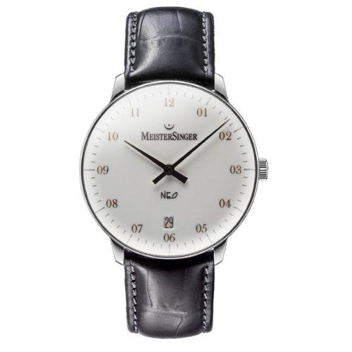 MeisterSinger Unisex-Armbanduhr Neo 2Z AnalogAutomatik Leder NE201G