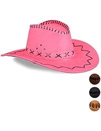 Amazon.it  Rosa - Cappelli da cowboy   Cappelli e cappellini ... e4aff1ed28bd