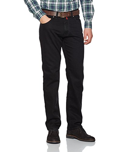 Pierre Cardin Herren Deauville Straight Jeans, (Grau/Schwarz 05), W38/L32 - Five-pocket-zip-fly Jeans