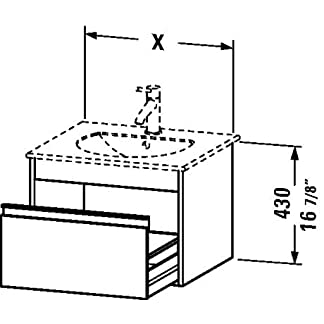 Mueble de pared, 1cajón, 161/4«x 195/8», grafito mate