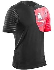 Compressport Camiseta de Entrenamiento Training Tshirt Ironman 2017Negro/Rojo - L