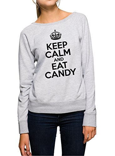 Certified Freak Keep Calm and Eat Candy Sweater Girls Gris-XL