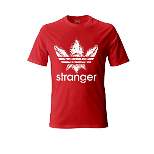 1/4 MILE KULT CLOTHING Stranger Things Unisex T-Shirt The Demogorgon Dart and Dustin (XL, - Red Star Shirt Trek