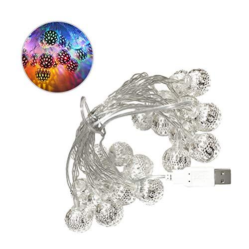 Themen Ball Kostüm - FENICAL LED Globe Lichterketten Ball Fairy Starry oder Home Decoration Party Supply USB-Muster