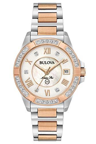 Bulova Reloj Analógico para Mujer de Cuarzo con Correa en Acero Inoxidable 98R234