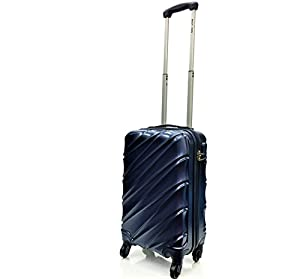 EasyJet, British Airways & Jet Cabin Approved Super Lightweight Hardshell ABS Hand Luggage Trolley 4 Wheeled Spinner Luggage Bag - FITS WITHIN 56x45x25cm