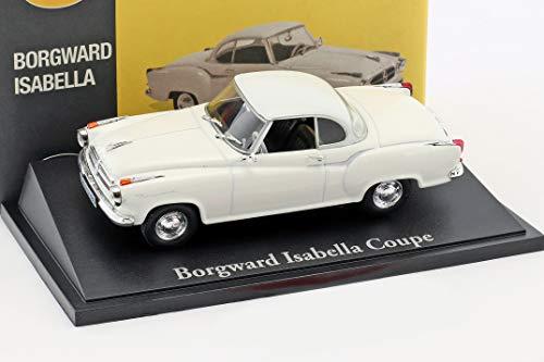Atlas Borgward Isabella Coupe weiß 1:43 gebraucht kaufen  Wird an jeden Ort in Deutschland