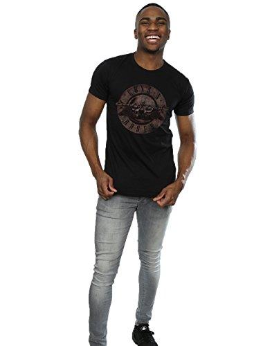 Guns N Roses Herren Sepia Bullet Logo T-Shirt Schwarz