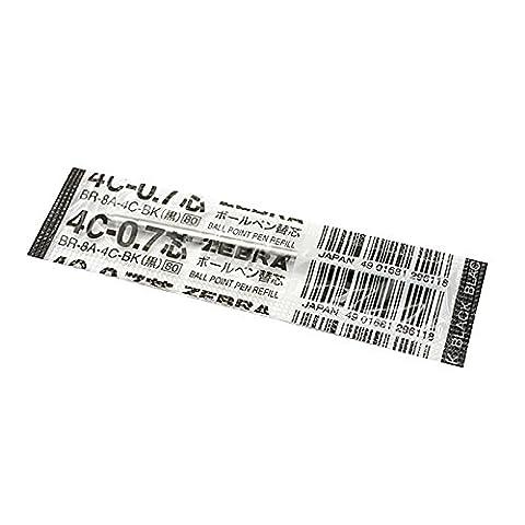 Zebra 4C-0.70,7mm Refill (schwarze Tinte)