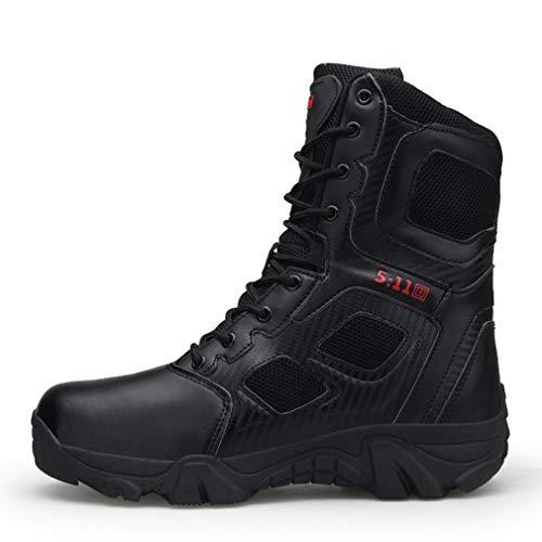 Botas Militares para Hombre Botas De Combate Al Aire Libre Otoño/Invierno De Alta Top Senderismo Bootssneakers Fitness Botas De Running,A,47