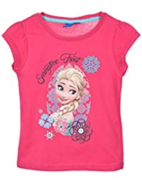 88930c096 Camiseta Frozen Disney para niñas manga corta 100% algodón color Fucsia ...