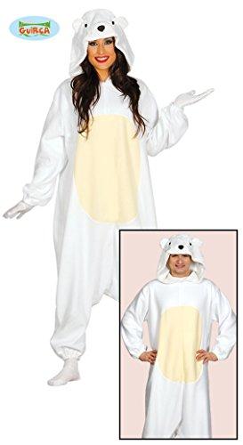 Eisbär Pyjama Kostüm für Erwachsene Gr. M - L, ()