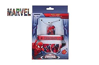 Set collier pendentif et 2 bracelet Avengers Spiderman - officiel
