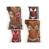 Photo de Floral Print Bikinis New Swimwear Women Swimsuit Beach Bathing Suit Maillot de Bain par FJLOKE&