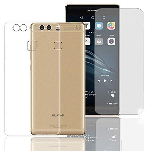 Eximmobile Silikon Case + Panzerfolie für Huawei Ascend G630 Handyhülle mit 9H Echt Glasfolie Schutzhülle mit Schutzfolie Handytasche Silikonhülle Tasche Hülle Bildschirmschutzfolie Bildschirmschutz