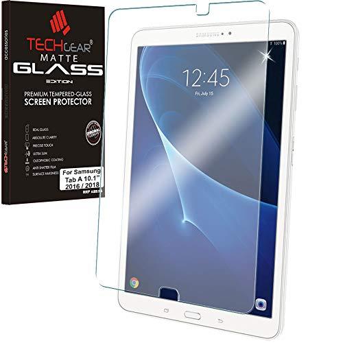 """vetro temperato tablet samsung galaxy tab a 6 TECHGEAR Vetro Antiriflesso Compatibile con Samsung Galaxy Tab A 6 10.1"""" 2016/2018 (SM-T580 Series) - Autentica Pellicola Protettiva Opaca in Vetro Temperato"""