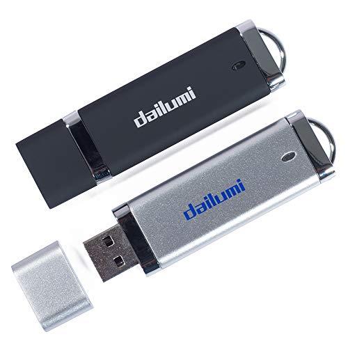 .0Flash Drive, Memory Stick, Um Ihre Kunden Dateien, High Speed Daumen-Jump Drive für Zusammenklappbar Daten Aufbewahrung, Zip-, Pen Drive 2 Packs - Black Silver 32GB ()