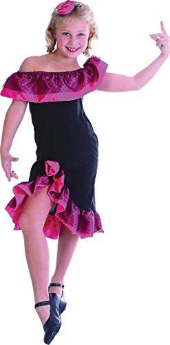 Kostüm Flamenco Girl - Bristol Novelties Kinder Weihnachten Fancy Club Party Flamenco Girl Woche Tag Kostüm nur schwarz UK