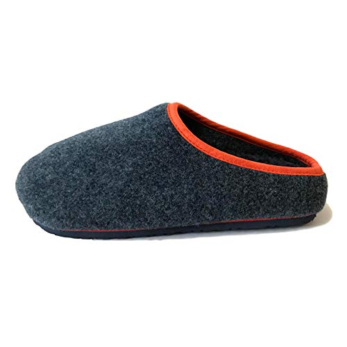 City Outlet Top Brand Felt Footbed Warm Lined Slip On Mule Comfy Cosy Comfortable Mens Gents Boys Slip Slide On House Foot Bed Slippers Size UK 7 8 9 10 11 12