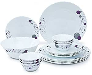 LaOpala Haze Dinner Set, 27-Pieces, White/Purple