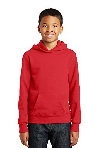 Port & Company® Youth Fan Favorite Fleece Pullover Hooded Sweatshirt. PC850YH Youth-fleece-sweatshirt