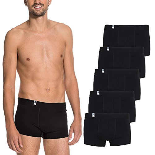 Maat Mons Pack de 5 Calzoncillos - Bóxer para Hombre - Cómoda Ropa Interior para Hombre en Negro