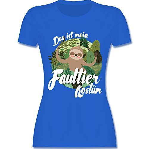 Faultier Frauen Kostüm - Karneval & Fasching - Das ist Mein Faultier Kostüm - L - Royalblau - L191 - Damen Tshirt und Frauen T-Shirt